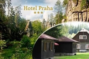 Adršpašské a Teplické skály, pobyt na 3-6 dní pro dva s polopenzí v chatové osadě nedaleko Adršpachu...