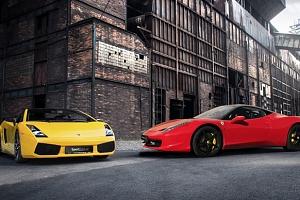 Jízda v supersportu Ferrari 458 Italia nebo Lamborghini Gallardo...