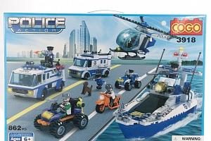 COGO Stavebnice Mobilní policejní centrum - 862 ks...