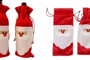 Vánoční obal na láhev...