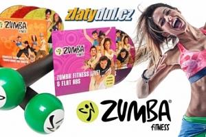 Zumba set: činky + 4 ks DVD v angličtině včetně poštovného...