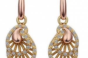 Ziskoun náušnice Dangle gold/silver CE000029 Barva: Zlatá...
