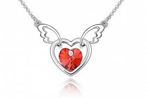 Ziskoun řetízek s přívěskem létajícího srdce PN00005 Barva: Červená...