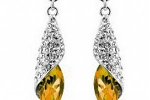 Ziskoun náušnice Long Drop Earrings- silver CE000037 Barva: Žlutá...