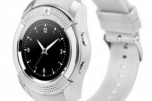Chytré hodinky V8 s kamerou a slotem na sim kartu- 4 barvy SMW00026 Barva: Bílá...