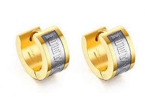 Ziskoun náušnice z chirurgické oceli SE000013 Barva: Zlatá...