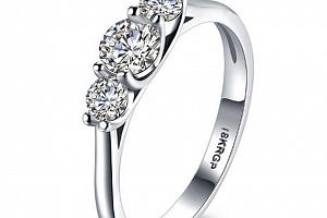Dámský prsten se zirkony z rhodiované bižuterie a platiny SR000054 Velikost: 6...