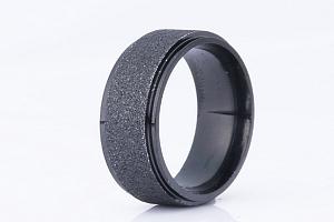 Prsten z pískované chirurgické oceli- černý SR00009 Velikost: 7...