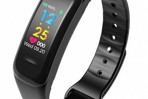Sportovní hodinky- fitness náramek C18- 3 barvy SMW00027 Barva: Černá...