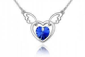 Ziskoun řetízek s přívěskem létajícího srdce PN00005 Barva: Modrá...
