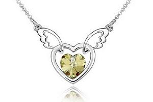 Ziskoun řetízek s přívěskem létajícího srdce PN00005 Barva: Žlutá...