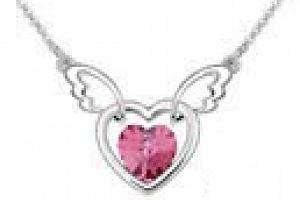 Ziskoun řetízek s přívěskem létajícího srdce PN00005 Barva: Růžová...