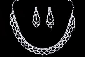 Ziskoun plesový set náušnic a náhrdelníku se zirkony CS000050...