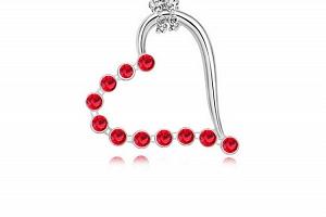 Ziskoun řetízek s přívěskem srdce PN00004 Barva: Červená...
