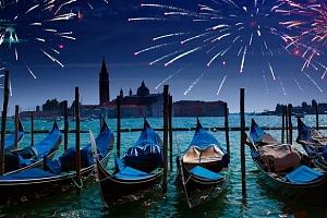 Silvestr v Benátkách autobusem a lodí...