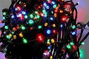 Led osvětlení vnitřní i venkovní barva multikolor - dlouhé 35 m, 500 LED žárovek....