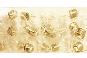 Svítící dekorace žárovky...