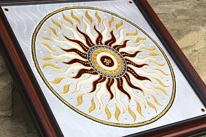 Ručně malovaná mandala s energií pro harmoničtější život...