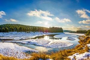 Krušné hory u Karlových Varů a ski areálů s polopenzí v penzionu Hamerská Jizba...