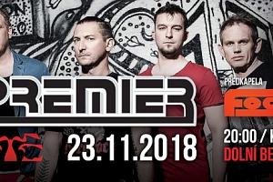Vstupenka na koncert kapely PREMIER 23.11.2018 v Dolním Benešově...