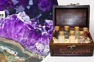 Krásná truhla plná vzácných minerálů včetně poštovného...