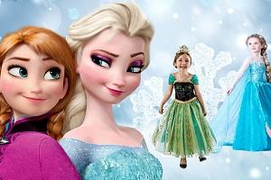 Kostým Frozen princezna Elsa nebo Anna z Ledového království...