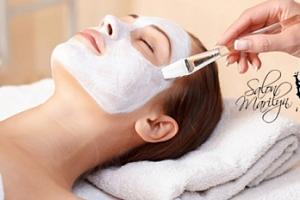 50min. ošetření pleti: čištění, maska, zábal, úprava obočí, depilace, líčení...