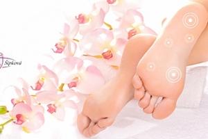 Exkluzivní akupresurní balíček pro nohy: reflexní diagnostika, koupel, zábal...