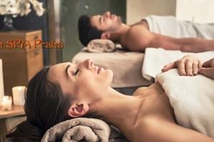 Thajská jasmínová relaxační olejová masáž pro dva u metra Anděl...