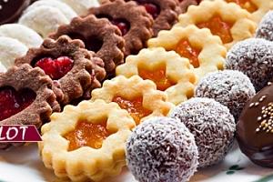1kg ručně vyráběné vánoční cukroví - 10 druhů...