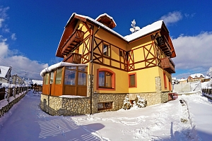 Vysoké Tatry v penzionu nedaleko Popradu se saunou, fitness, vínem, polopenzí a výhledem na…...