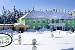 Zima pro dva v Hotelu Berghof v Krušných horách poblíž Klínovce...