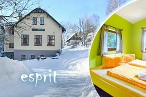 Zima/jaro v Krkonoších pro dva s polopenzí a privátním wellness...
