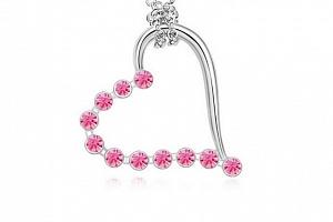 Ziskoun řetízek s přívěskem srdce PN00004 Barva: Růžová...