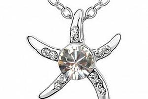 Ziskoun řetízek s přívěskem mořské hvězdičky PN00022 Barva: Bílá...