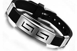 Pánský náramek z chirurgické oceli Pulser SSB00042...