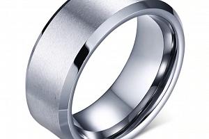 Prsten z broušené chirurgické oceli stříbrný SR000071 Velikost: 11...