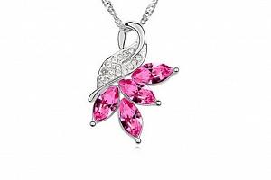 Ziskoun řetízek s přívěskem double hearts PN00003 Barva: Růžová...