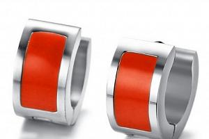 Ziskoun náušnice z chirugické oceli ve 2 barevných provedeních SE000034 Barva: Červená...