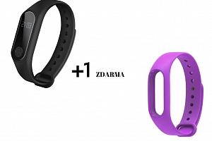 Aligator M2 fitness náramek černý + barevný řemínek dle výběru Barva: Fialová...