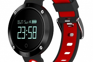 Fitness náramek DM58- smartband 5 barev SMW00023 Barva: Červená...