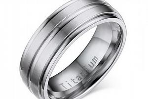 Stříbrný prsten z Titanu s rýhováním SR000077 Velikost: 10...