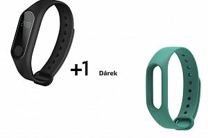 Aligator M2 fitness náramek černý + barevný řemínek dle výběru Barva: Zelená...