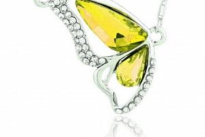 Ziskoun řetízek s přívěskem motýla PN00011 Barva: Žlutá...