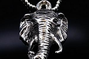 Ziskoun řetízek s přívěskem slona z chirugické oceli PN000047...