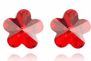 Ziskoun náušnice Flowers CE00011 Barva: Červená...