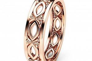 Dámský prsten z rhodiované bižuterie v bronzovém provedení SR000059 Velikost: 6...