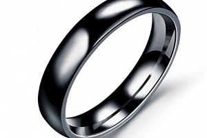Prsten z chirurgické oceli- Classic- černý SR00006 Velikost: 8...
