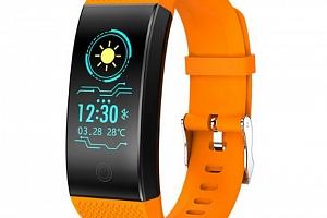 Voděodolný fitness náramek QW18 s barevným displejem- 4 barvy SMW00029 Barva: Oranžová...