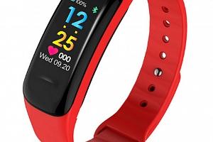 Sportovní hodinky- fitness náramek C18- 3 barvy SMW00027 Barva: Červená...
